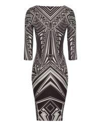Jane Norman White Printed Midi Dress
