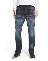 PRPS - Blue 'demon - Noir Armus' Straight Leg Jeans for Men - Lyst