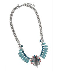 Rebecca Minkoff | Blue Cluster Statement Necklace | Lyst