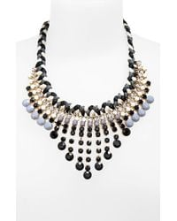 Panacea | Black Statement Necklace | Lyst