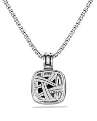 David Yurman Metallic Albion Pendant With Black Onyx & Diamonds