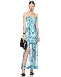 Nicholas - Multicolor Strapless Silk Gown - Lyst