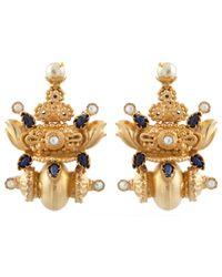 Kastur Jewels | Heritage Blue Lapis & Pearl Earrings | Lyst