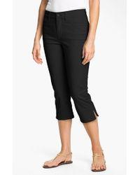 NYDJ Black 'nanette' Stretch Crop Jeans