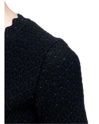 Alaïa Black 'heliosphere' Cloqué Knit Flare Dress