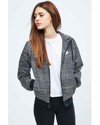 Nike Windrunner All-over Print Jacket In Black And White