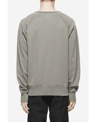 Rag & Bone | Gray Garment Dye David Sweatshirt for Men | Lyst