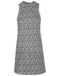 TOPSHOP - Black Paisley Print Tunic Dress - Lyst