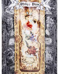 Philipp Plein Gray Fresco Paintings Printed Cotton T-Shirt for men