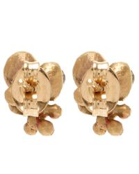 Ruth Tomlinson | Metallic Gold Diamond Cluster Studs | Lyst