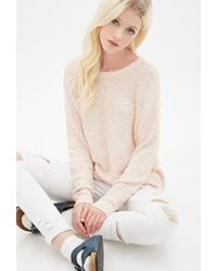 Forever 21 - Pink Textured Knit Sweater - Lyst