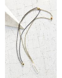 Urban Outfitters | Metallic Maya Double Layer Necklace | Lyst