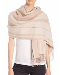 Rag & Bone | Natural Warped Stripe Merino Wool Scarf | Lyst