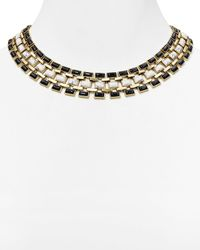 House of Harlow 1960 | Metallic 1960 Azure Mosaic Collar Necklace, 16"