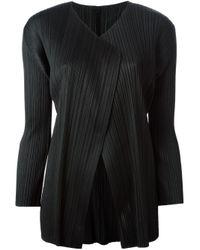 Pleats Please Issey Miyake | Black Pleated Jacket | Lyst