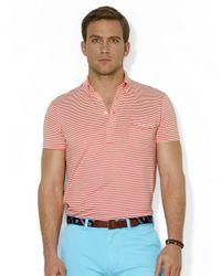 Polo Ralph Lauren | Orange Striped Lisle Pocket Shirt for Men | Lyst