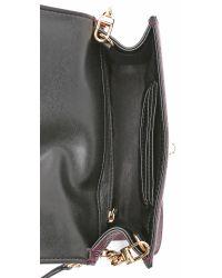 MILLY | Purple Astor Cross Body Bag - Bordeaux | Lyst