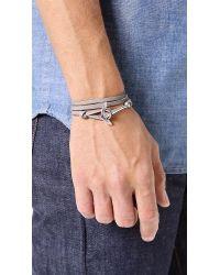Miansai Metallic Anchor Leather Wrap Bracelet for men