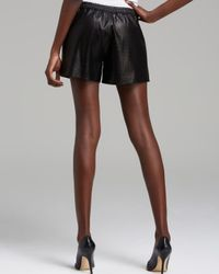 Vince   Black Shorts Perforated Leather Boxer   Lyst
