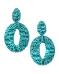 Oscar de la Renta | Blue O Clipon Earrings Turquoise | Lyst