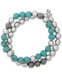 Lucky Brand | Blue Double Stretch Bracelet | Lyst