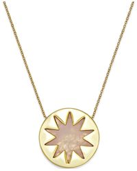 House of Harlow 1960 | Metallic Gold-tone Rose Quartz Sunburst Pendant Necklace | Lyst