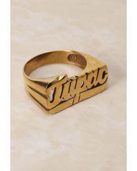 Forever 21 - Metallic Groundscorenyc Tupac Brass Ring - Lyst
