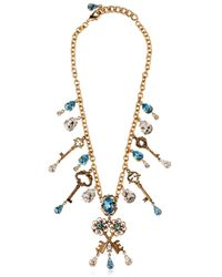Dolce & Gabbana | Metallic Key Charms Necklace | Lyst