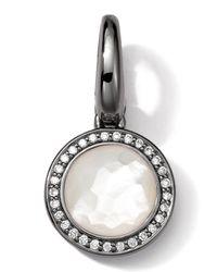 Ippolita White Black Sterling Silver Motherofpearl Diamond Lollipop Charm