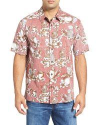 Jack O'neill Purple 'mixology' Reverse Print Short Sleeve Sport Shirt for men