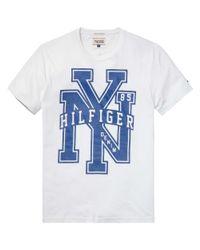 Hilfiger Denim Blue Federer Nyc T-shirt for men