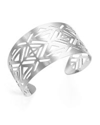Panacea | Metallic Cutout Tribal Cuff Bracelet | Lyst