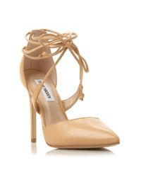 Steve Madden - Natural Raela Pointed Wrap Around Court Shoes - Lyst