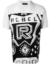 Diesel Black Gold | White 'Rebel' T-Shirt for Men | Lyst