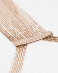 Zara   Metallic Multi Chain Necklace   Lyst