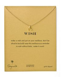 Dogeared | Metallic Teeny Wishbone Charm Necklace | Lyst