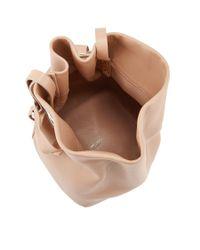 Jimmy Choo Eve Ballet Pink Nappa Leather Bucket Bag