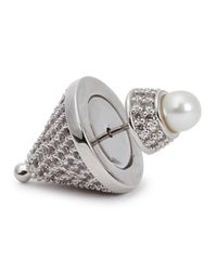 Eddie Borgo - Metallic Pavé Silver-plated Cone Earrings - Lyst