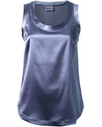 Brunello Cucinelli | Blue Scoop Neck Tank Top | Lyst