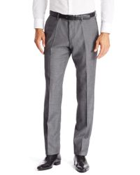 BOSS - Gray 't-gleeve'   Slim Fit, Italian Virgin Wool Dress Pants for Men - Lyst