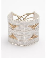 Free People | White Warrior Bead Cuff | Lyst