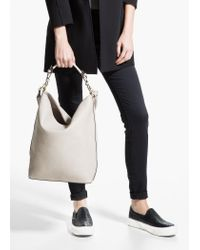 Mango White Hobo Bag