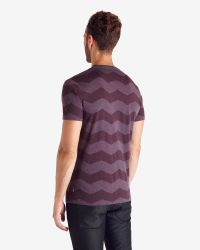 Ted Baker - Purple Zigzag Print T-shirt for Men - Lyst