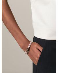 Ferragamo - Pink Woven Gancio Bracelet - Lyst