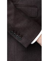 Burberry - Brown Slim Fit Wool Suit for Men - Lyst