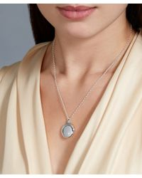 Astley Clarke | Metallic Silver Medium Astley Locket Necklace | Lyst