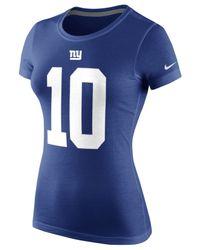 Nike Blue Women's Eli Manning New York Giants Player Pride T-shirt