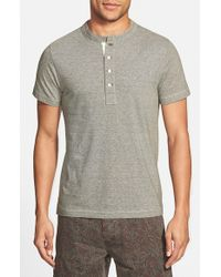 Billy Reid | Green 'pensacola' Trim Fit Henley T-shirt for Men | Lyst