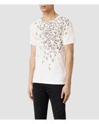 AllSaints - White Spot Crew T-Shirt for Men - Lyst