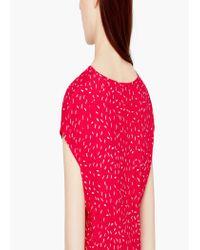 Mango | Red Flowy Print Dress | Lyst